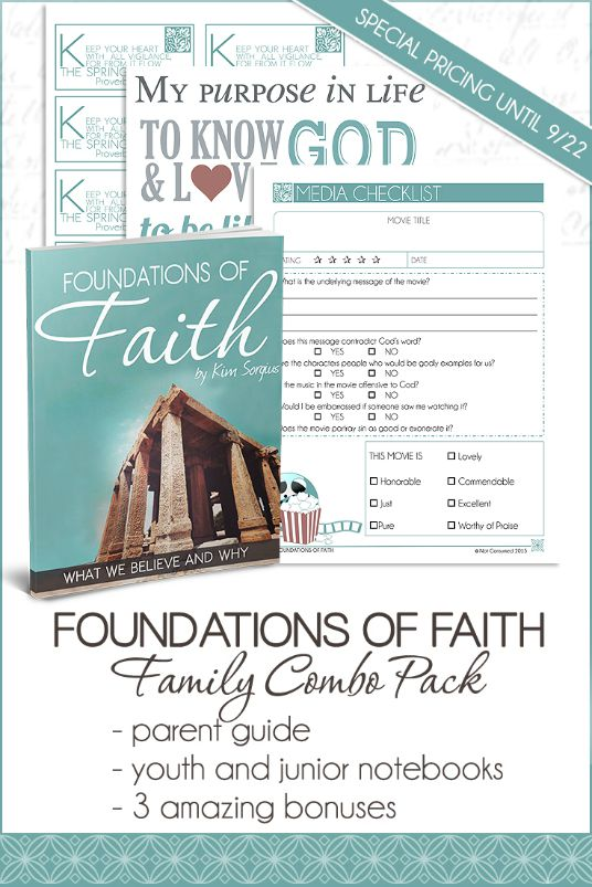 "Get ""Foundations of Faith"" at a Special Introductory Price!"