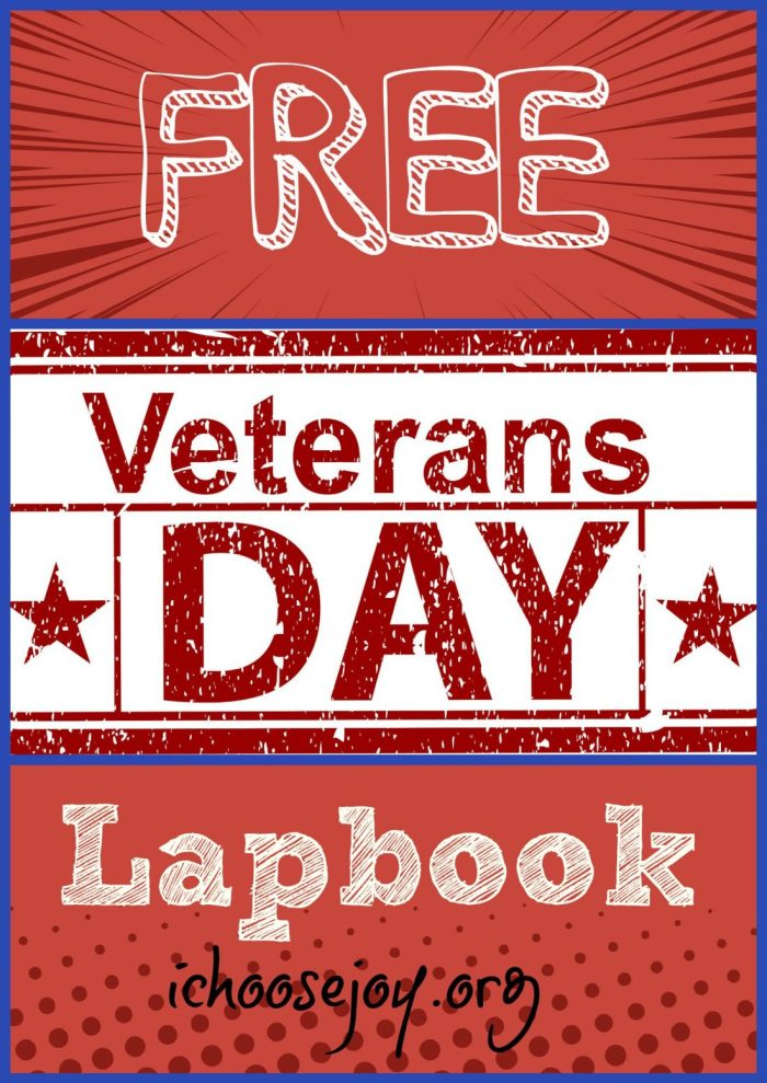Get a Free Veterans Day Lapbook here. There are ideas of what to put in mini-booklets, what to read, and where to find mini-booklets.  #VeteransDay #Veterans #lapbook #freehomeschooling #freeresources #homeschooling #homeschool