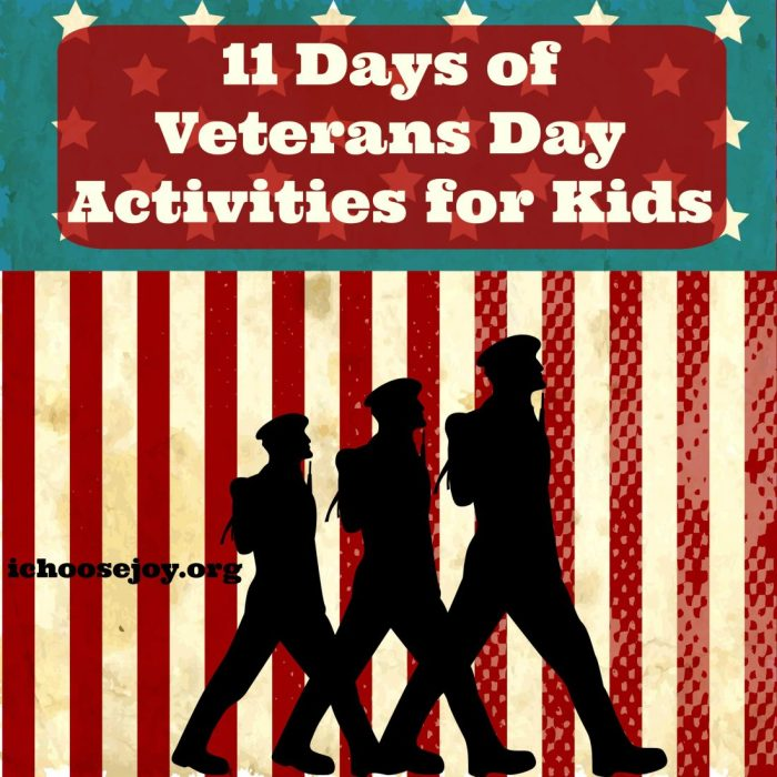 """Looking for some Veterans Day Activities? """"11 Days of Veterans Days Activities for Kids"""" is a great way to teach your kids about Veterans Day. #VeteransDay #kidsactivities #Veterans #homeschooling #homeschoolresources"""