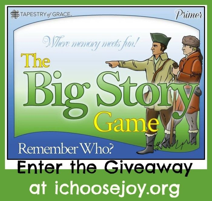 Giveaway: The Big Story Game from Tapestry of Grace