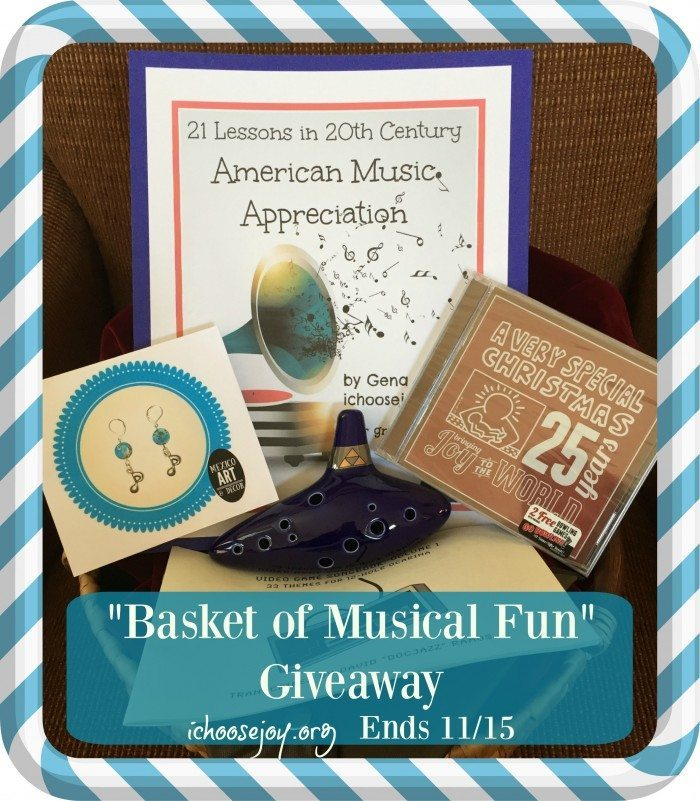 Basket of Musical Fun Giveaway ends Nov. 15