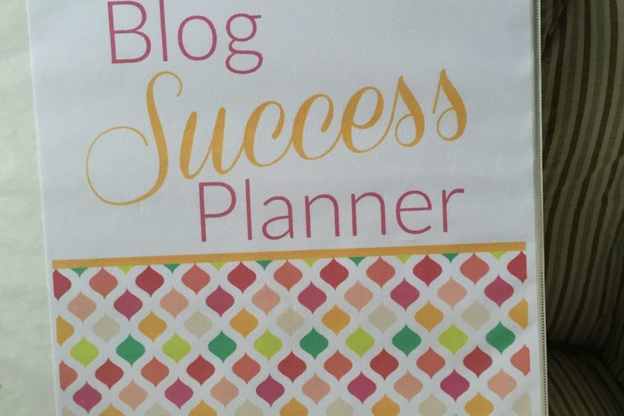 Blog Success Planner–See mine and then get your own!