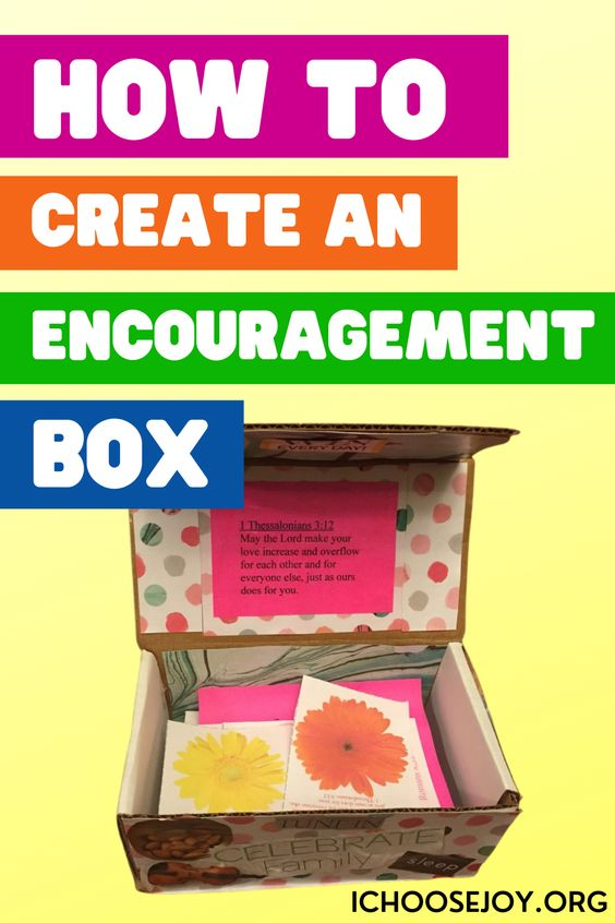 How to create an encouragement box for someone you love. This article is all about encouragement gifts for women and DIY cute gifts for moms. Here, we gather the best ideas about gifts to encourage a friend going through hard times and Christian encouraging gifts to help you bless your friends. Learn more about encouragement gifts for women at IChooseJoy.org.