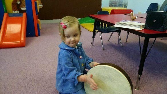 Music class at homeschool co-op