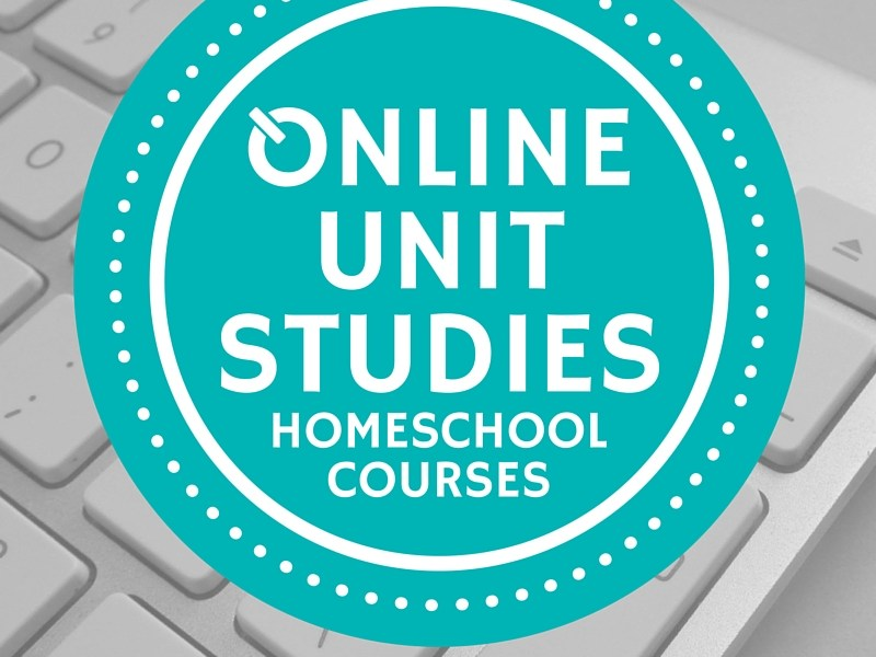 Online Unit Studies homeschool courses