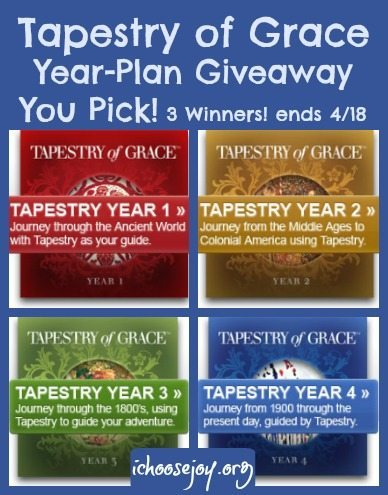 Tapestry of Grace Giveaway. Choose your own Year-Plan!