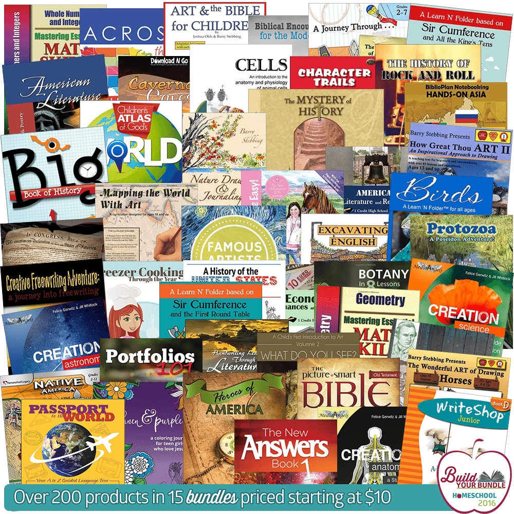 Build Your Bundle Homeschool Curriculum Sale 2016: The Details