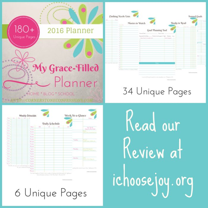 My Grace-Filled Planner review