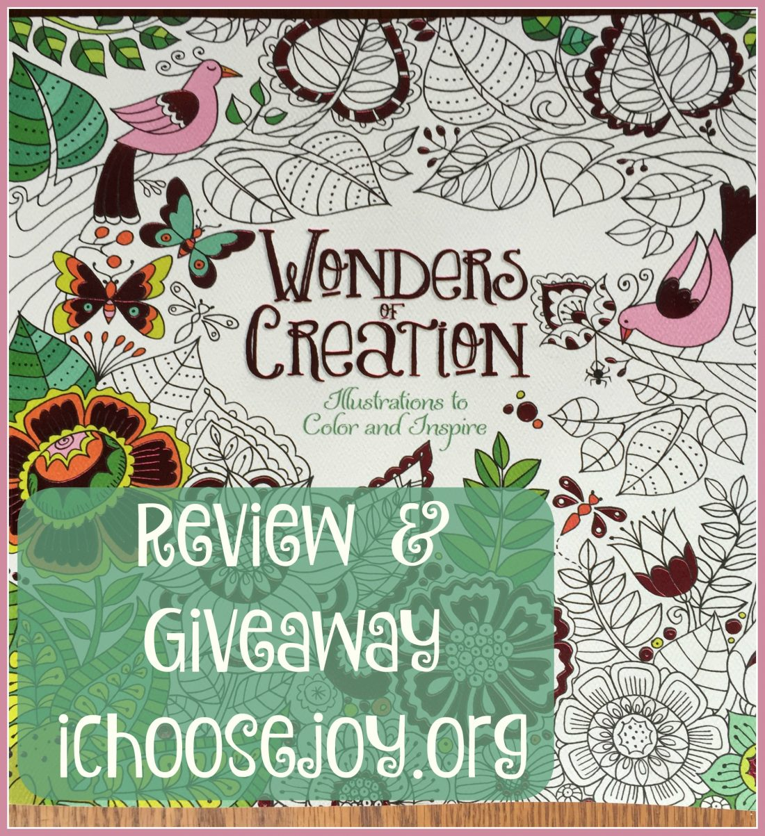 Review & Giveaway: Wonders of Creation: Illustrations to Color and Inspire