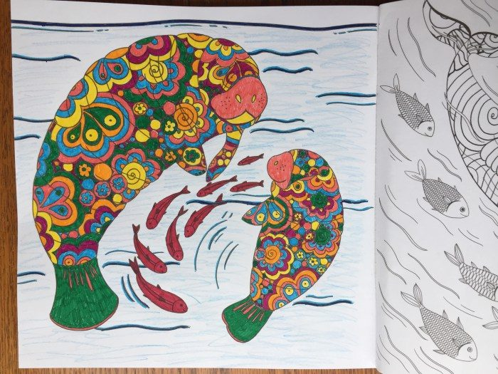 Manatee coloring page in Wonders of Creation