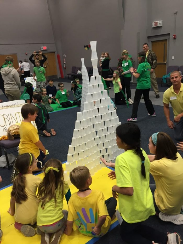 Stack the Cups game