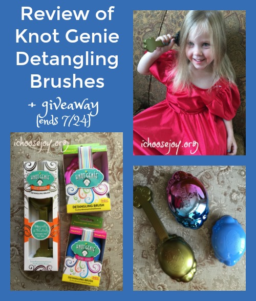 Knot Genie Detangling Brush for easy hair-brushing (Review & Giveaway)