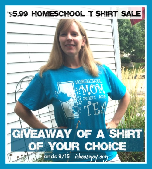 Homeschool T-Shirt Sale and Giveaway