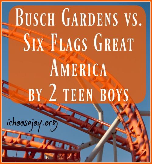 Busch Gardens vs. Six Flags Great America by 2 teen boys
