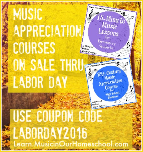 Music Appreciation Courses on Sale Thru Labor Day