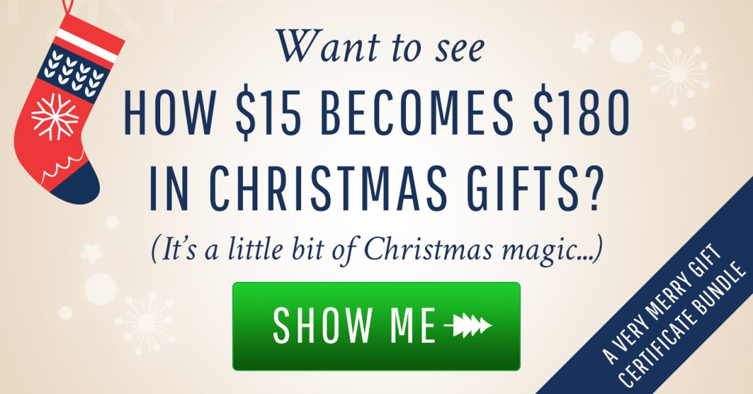 Spend only $15 to Give $180 in Gift Cards! (Ends Tonight)