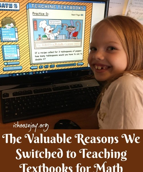 The Valuable Reasons We Switched to Teaching Textbooks for Math