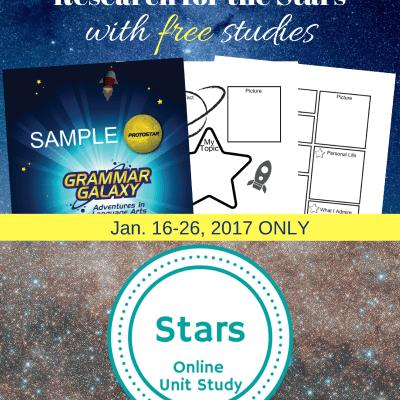 Free Stars Unit Study and Grammar Galaxy Protostar