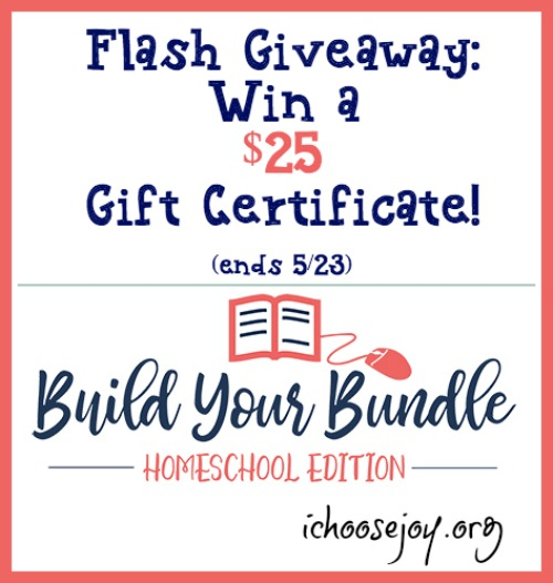 Flash Giveaway Win a $25 Build Your Bundle Gift Certificate