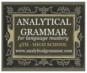 Analytical Grammar for 4th grade - high school