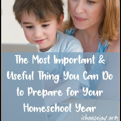 The Most Important & Useful Thing You Can Do to Prepare for Your Homeschool Year