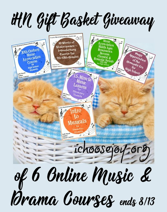iHN Gift Basket Giveaway of 6 Online Music & Drama Courses