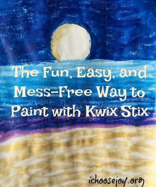 The Fun, Easy, and Mess-Free Way to Paint with Kwix Stix, and not just for little kids. Review from I Choose Joy!
