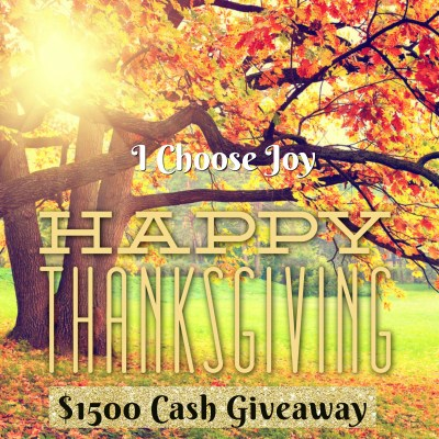 $1500 Thanksgiving Cash Giveaway ~ 3 Winners $500 Each