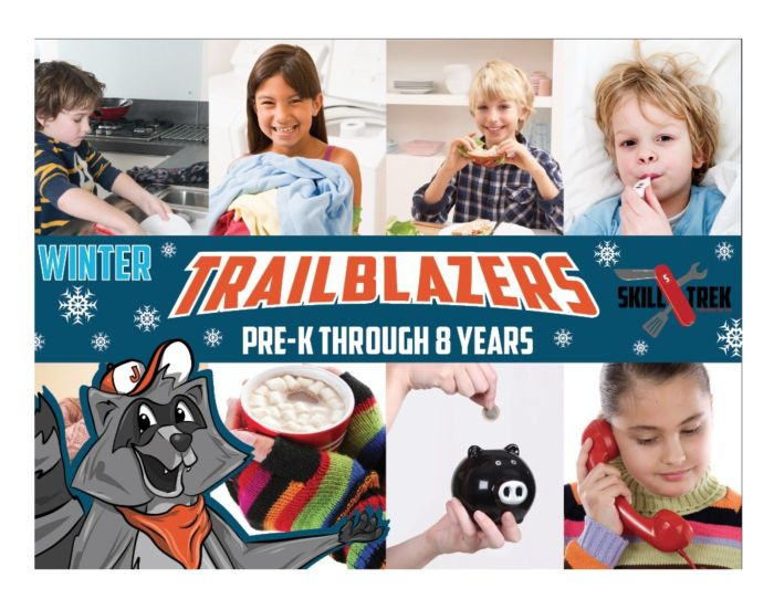 Skill Trek winter skills for Pre-K through 8 years old. Teach them the life skills they need to know.