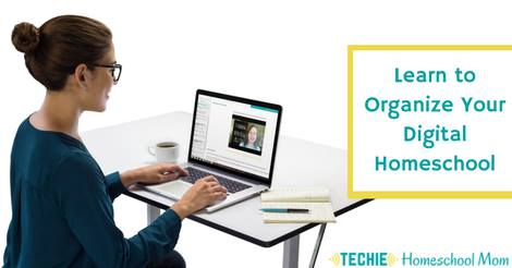 Guide to Digital Homeschool Organization, an ecourse to show you how to organize your digital homeschool materials and more in your homeschool. Only open 2 times a year. Registration is open now through Jan. 4!