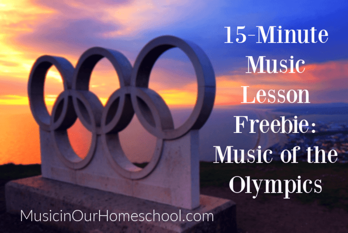 15-Minute Music Lesson Freebie_ Music of the Olympics