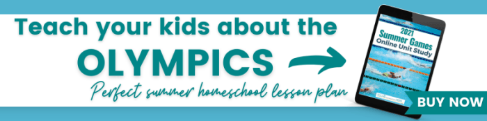 Teach your kids all about the Summer Olympics with this Online Unit Study!