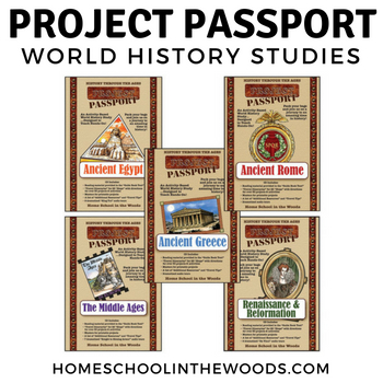 Homeschool in the Woods Project Passport World History Studies
