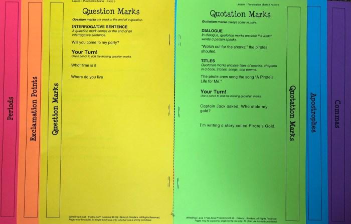 WriteShop Fold-N-Go Grammar Pack, stand-alone grammar resource