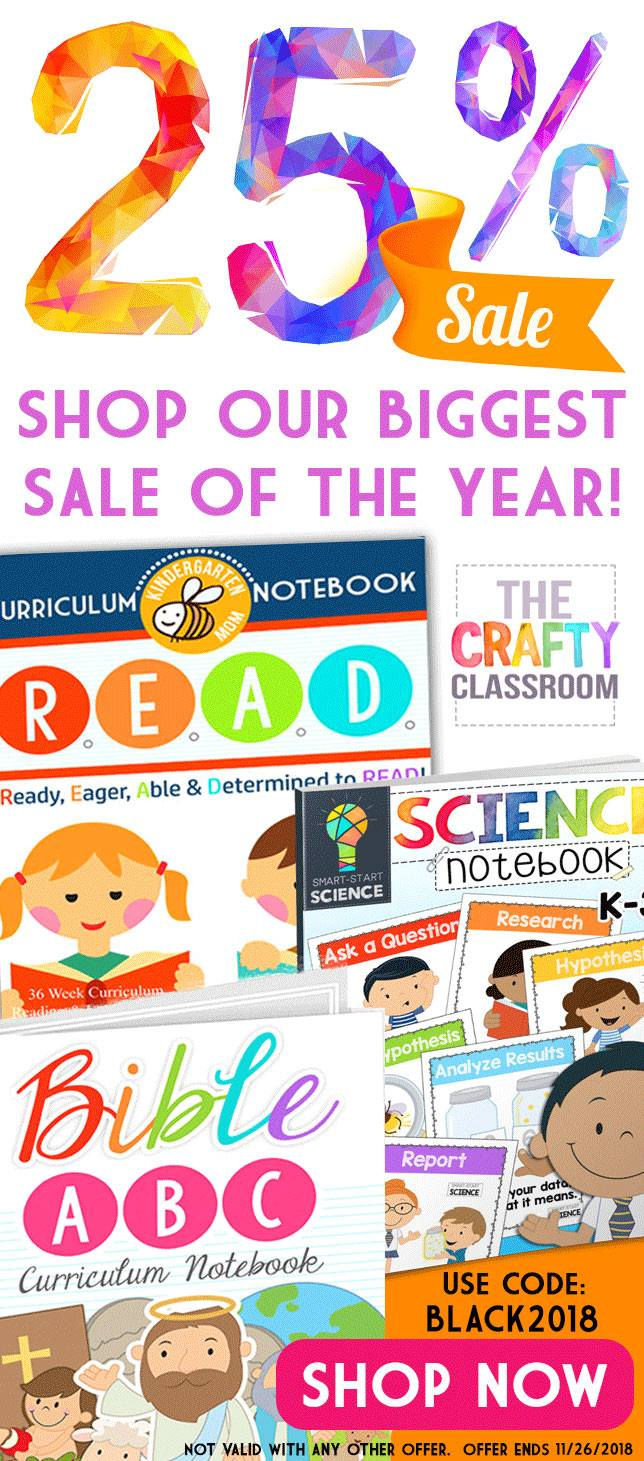 Crafty Classroom sale on homeschool curriculum. #homeschoolcurriculum #homeschoolsale #homeschooling #ichoosejoyblog