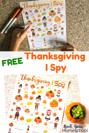 Thanksgiving I Spy activity for kids to do at Thanksgiving #thanksgiving #kidsactivity #printable #freebie