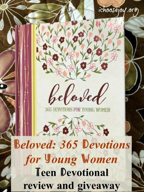 Beloved: 365 Devotions for Young Women, a wonderful devotion for teen girls from Zondervan. #ichoosejoyblog #devotion #teengirldevotion