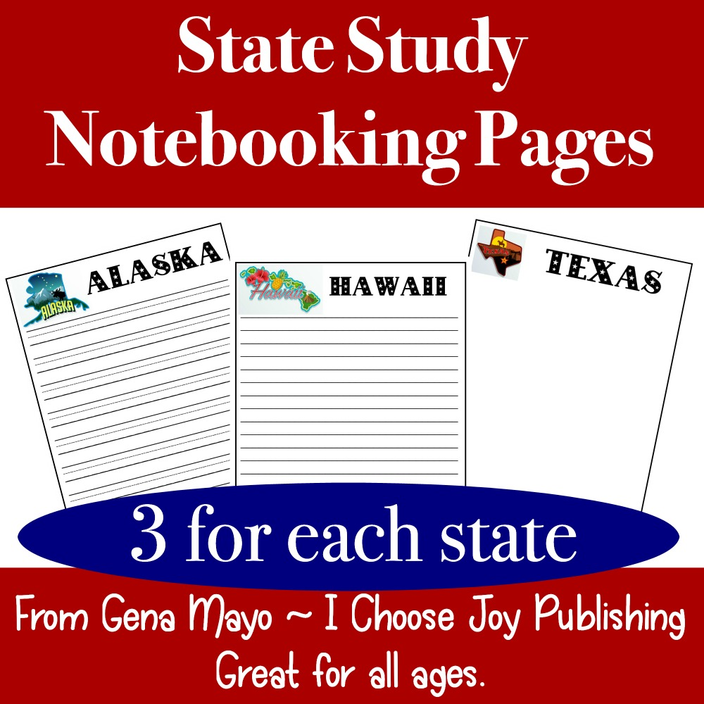 U.S. State Study Notebooking Pages