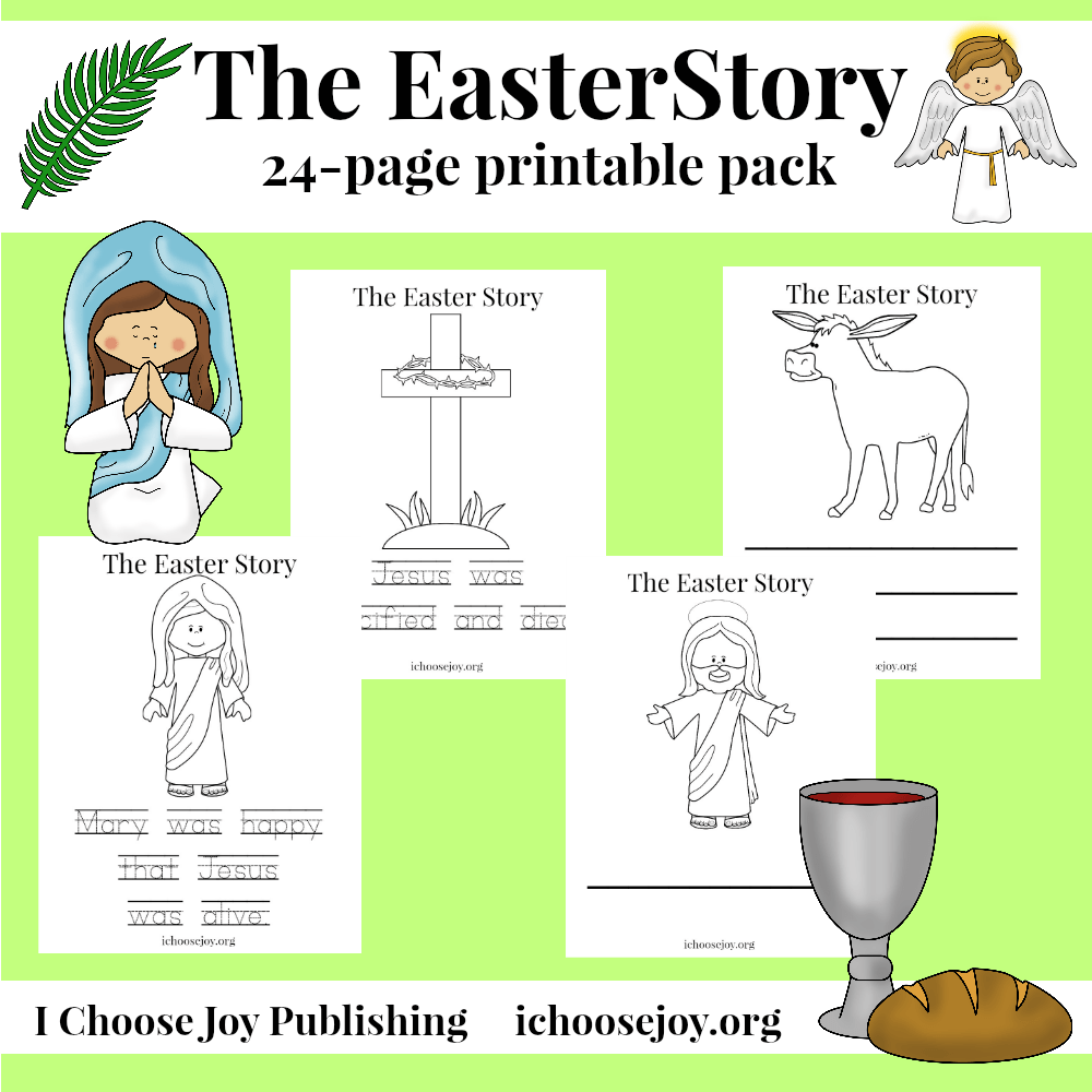 Easter Story 24-page printable pack