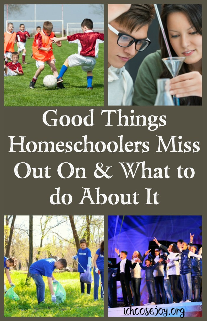 What Good Things Homeschoolers Miss Out On & What to do About It. Options for your homeschooled students. #homeschool #theater #music #sports #ichoosejoyblog