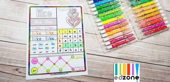 Sight Word of the Week from Crafty Classroom will make your homeschool fun! #reading #kindergarten #preschool #homeschool