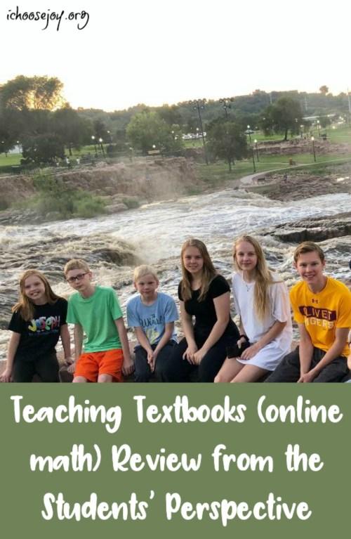 Teaching Textbooks review from the students' perspective #math #homeschoolmath #teachingtextbooks #ichoosejoyblog