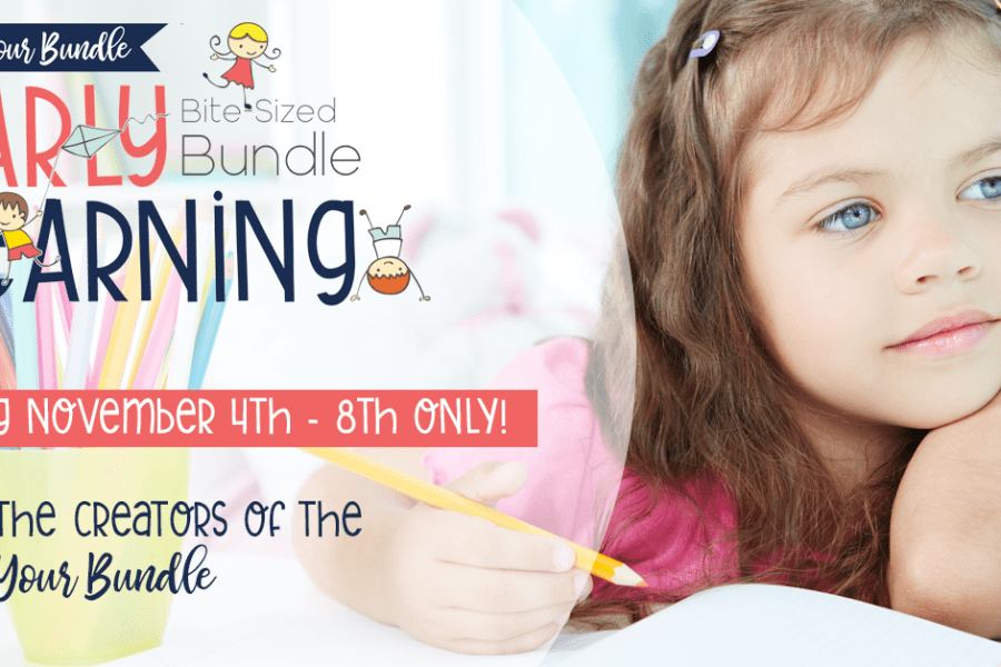 Build Your Bundle's Early Learning Bite-Sized Bundle is a great collection of resources for your youngest kids, preschool through 2nd grade. #ichoosejoynow #earlylearning #preschool