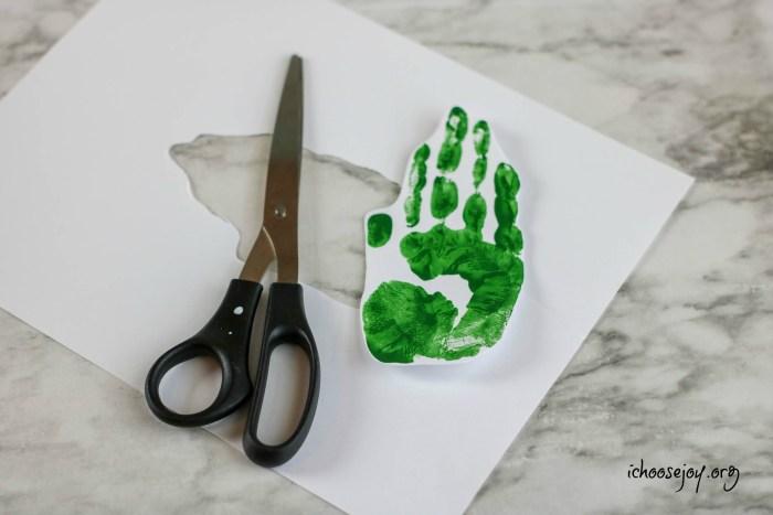Christmas Tree Handprint Ornament Craft