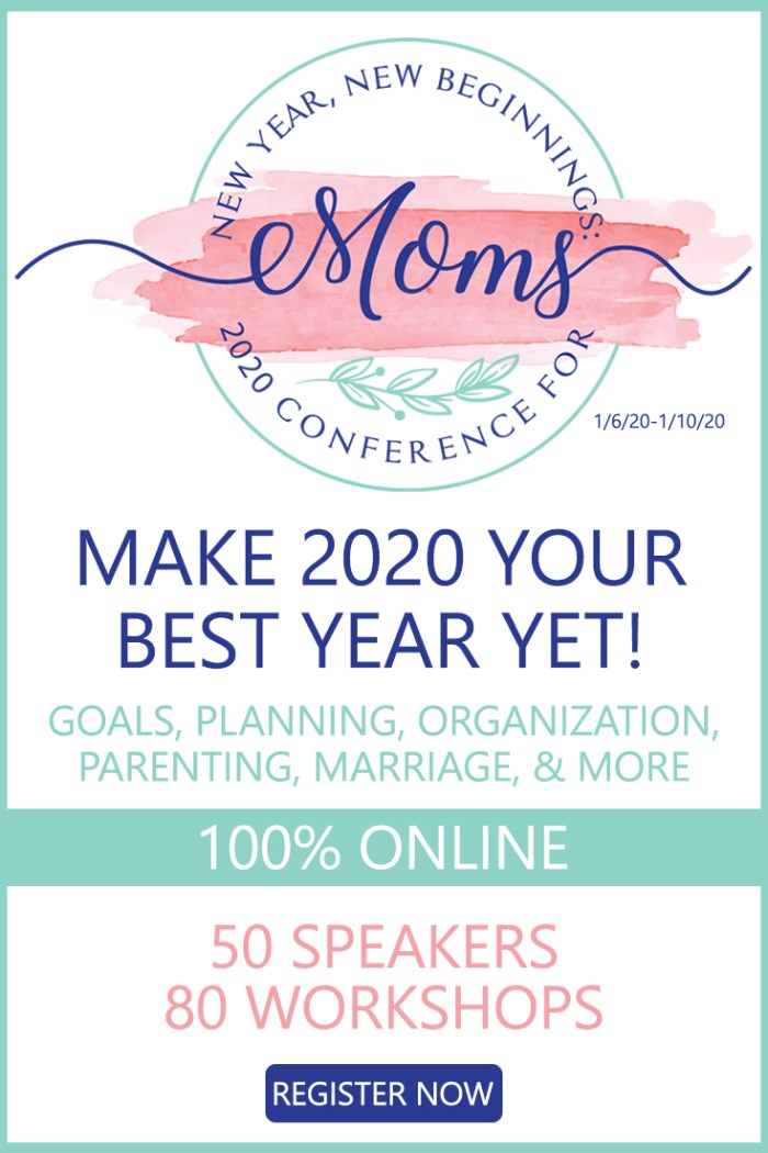Near Year New Beginnings: 2020 Online Conference for Moms