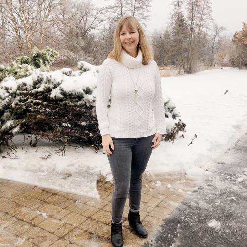 Winter White Sweater from Amazon. See more Homeschool Mom Fashion from I Choose Joy!