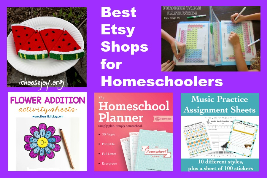 Best Etsy Shops for Homeschoolers