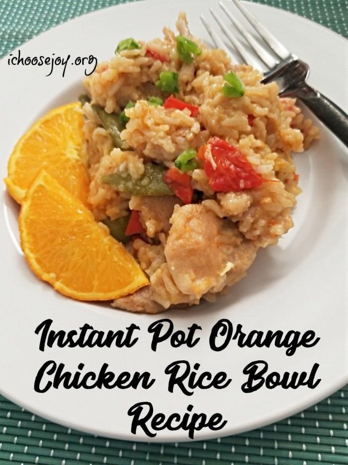 Instant Pot Orange Chicken Rice Bowl Recipe