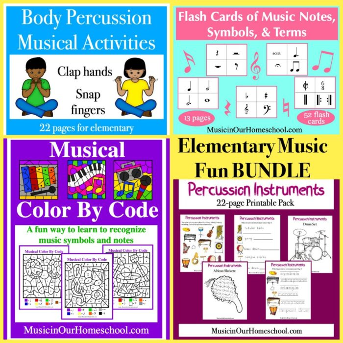 Receive this Bonus: Elementary Music Fun BUNDLE when you purchase through my link for the 2020 Build Your Bundle Homeschool Curriculum sale.