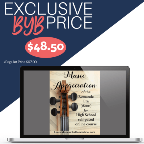 Music Appreciation of the Romantic Era online course for high school is 50% off in the Build Your Bundle sale!
